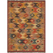 Bedouin Cloud White/Ruby Wine Tribal Rug