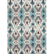 Brio Soft Gold/Blue Tribal Rug