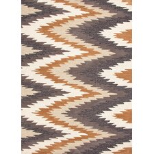 Brio Dark Ivory Tribal Area Rug