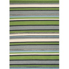 Colours I-O Green Stripe Indoor/Outdoor Area Rug