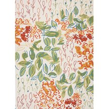 Colours I-O Antique White Floral Indoor/Outdoor Rug