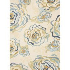 Colours I-O White Floral Indoor/Outdoor Rug