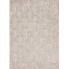 City White Geometric Rug