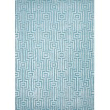 City Blue Geometric Rug
