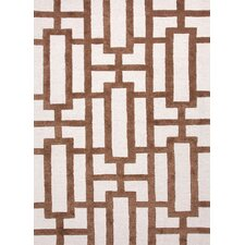 City Beige/Brown Geometric Rug