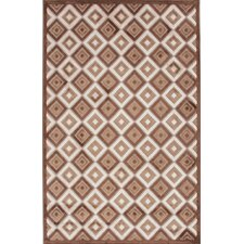 Fables Coffee/Beige Geometric Rug