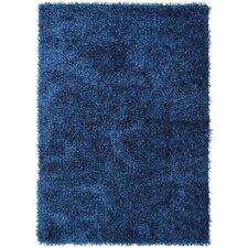 Flux Blue Solid Area Rug
