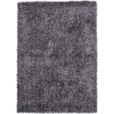 Flux Gray/Black Solid Area Rug