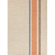 Grant Design I-O Beige/Orange Stripe Indoor/Outdoor Area Rug