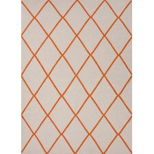 <strong>Jaipur Rugs</strong> Maroc White/Orange Geometric Rug