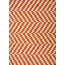 Maroc Orange Stripe Rug