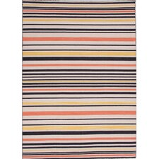 Pura Vida Ebony/White Ice Stripe Rug