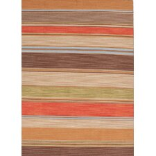 Pura Vida Poppy/Lemon Stripe Rug