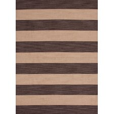 Pura Vida Deep Charcoal/Wheat Stripe Rug