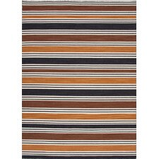Pura Vida Brown/Beige Stripe Rug