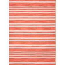 Pura Vida Red/Orange Stripe Rug