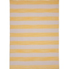 Pura Vida Yellow/Gold Stripe Rug