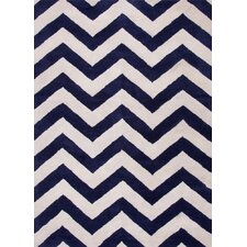 Traverse Deep Navy Geometric Rug
