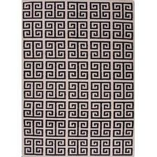 Urban Bungalow Black Geometric Rug