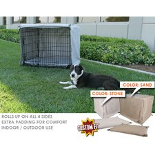 <strong>Animated Pet</strong> Midwest Life Stages 2-Door Dog Crate Cover and Pad Set
