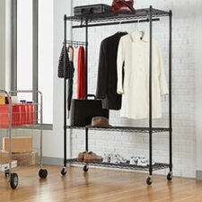 "Wire Shelving 75"" H x 48"" W x 18"" D Garment Rack"