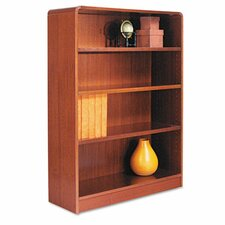 Radius Corner Bookcase, Finished Back, Wood Veneer, 4-Shelf, 36x12x48