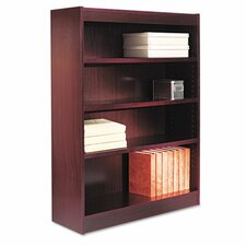 Four-shelf Square Corner Bookcase