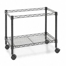 "21"" 1-Tier Rolling File Cart"