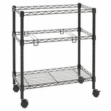 "29.5"" 2-Tier Rolling File Cart"