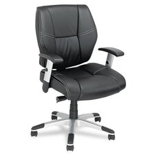 <strong>Alera®</strong> Napoleon Series Mid-Back Leather Office Chair