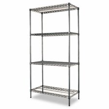 "<strong>Alera®</strong> 36"" W x 18"" D Industrial Wire Shelving Starter Kit in Black"