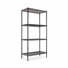 "Four-shelf 36"" W x 18"" D Industrial Wire Shelving Starter Kit"
