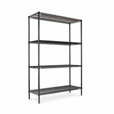 "<strong>Alera®</strong> Four-shelf 48"" W x 18"" D Industrial Wire Shelving Starter Kit"