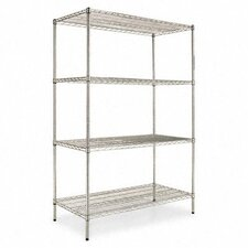 "Four-shelf 48"" W x 24"" D Industrial Wire Shelving Starter Kit"