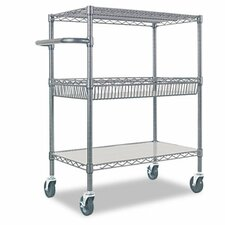"32"" 3-Tier Rolling Cart in Black"