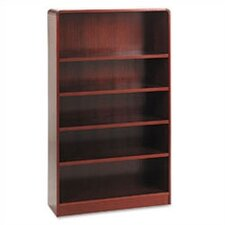 Five-Shelve Radius Corner Bookcase