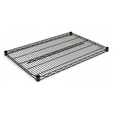 "Two-Shelve 36"" W x 24"" D Wire Shelving Extra Shelves in Black"