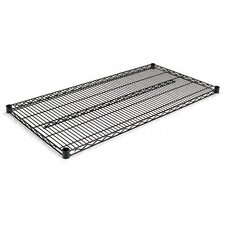 "Two-Shelve 48"" W x 24"" D Wire Shelving Extra Shelves in Black"