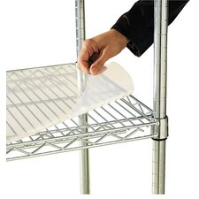 "<strong>Alera®</strong> 48"" W x 24"" D Shelf Liners for Wire Shelving in Clear Plastic"
