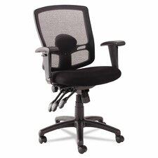 <strong>Alera®</strong> Etros Series Mid-Back Mesh Petite Multifunction Office Chair