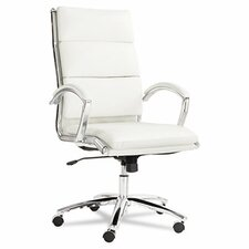 <strong>Alera®</strong> High-Back Faux Leather Neratoli Slim Profile Office Chair