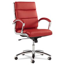Mid-Back Leather Neratoli Slim Profile Office Chair