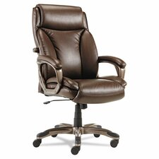 Veon Series High-Back Leather Executive Chair with Coil Spring Cushioning