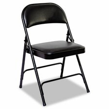 Steel Folding Chair with Padded Back and Seat (Set of 4)