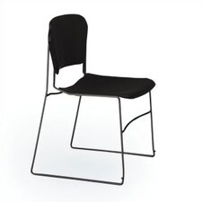 <strong>KI Furniture</strong> Perry Stack Chair with Black Frame and Black Seat