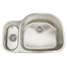 "Premium Series 31.5"" x 20.75"" Double Bowl Undermount Kitchen Sink"