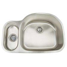 """Premium Series 31.5"""" x 20.75"""" Double Bowl Undermount Kitchen Sink"""