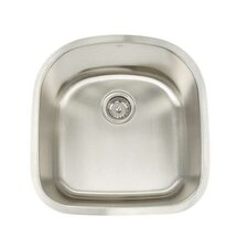 "Premium Series 19.75"" x 20.5"" Undermount Single Bowl Kitchen Sink"