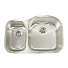"Premium Series 31.13"" x 20.5"" Double Bowl Undermount Kitchen Sink"