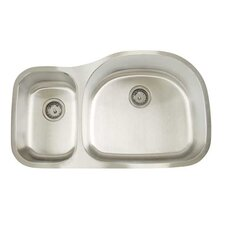 "Premium Series 35"" x 20.75"" Double Bowl Undermount Kitchen Sink"